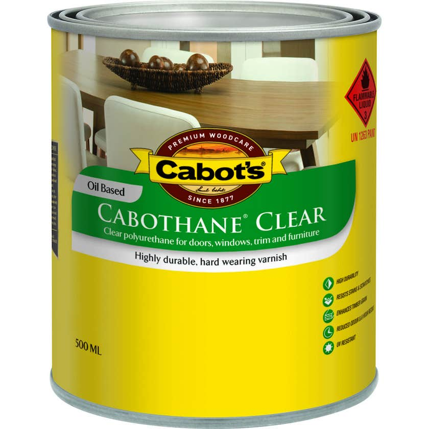 Cabot's Cabothane Oil Based Satin Clear 500ml