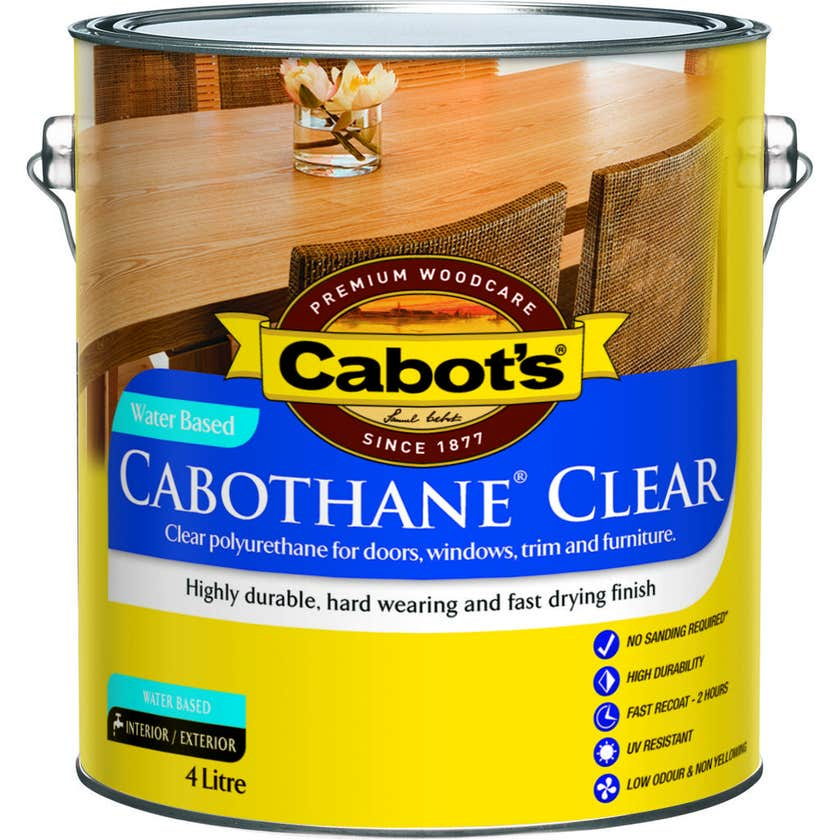 Cabot's Cabothane Water Based Gloss Clear 4L