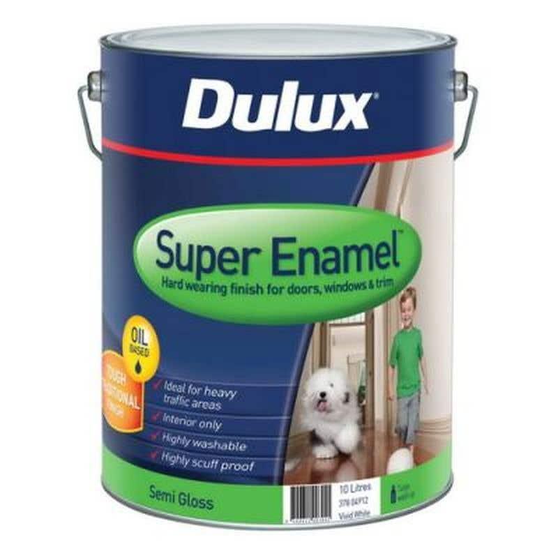 Dulux Super Enamel Vivid White 10L