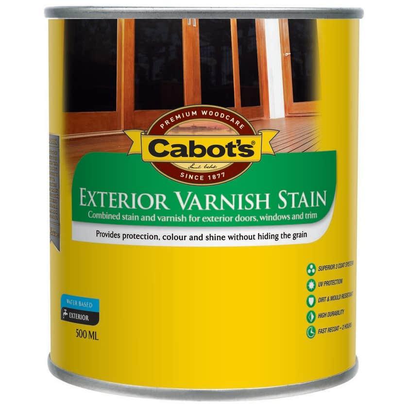 Cabot's Exterior Varnish Stain Tint Base Satin 500ml