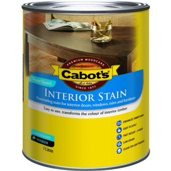 Cabot's Interior Stain Water Based Walnut 1L