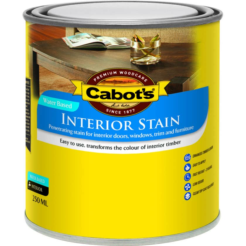 Cabot's Interior Stain Water Based Walnut 250ml