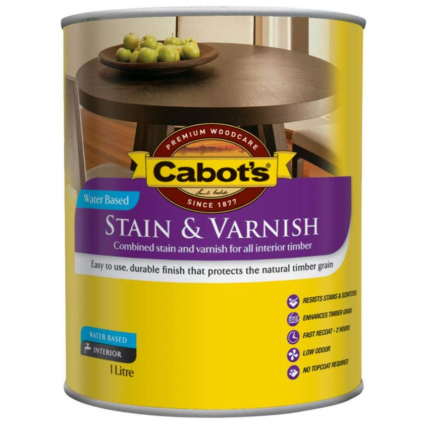 Cabot's Stain & Varnish Water Based Gloss Cedar 1L