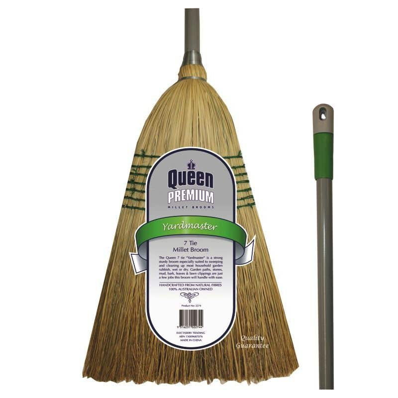 Queen Millet Broom 7 Tie