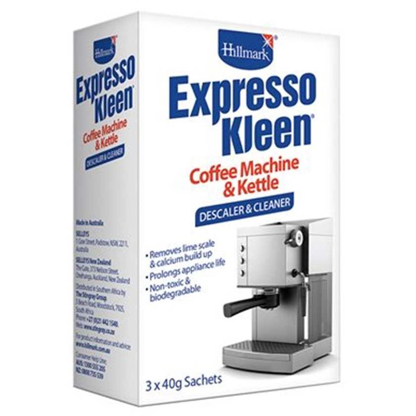 Hillmark Expresso Kleen Descaler and Cleaner 3x40g
