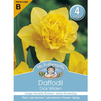 Mr Fothergill's Bulbs Daffodil Dick Wilden 4 Bulbs