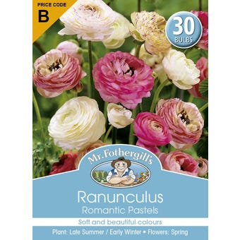 Mr Fothergill's Bulbs Ranunculus Romantic Past 30 Bulbs