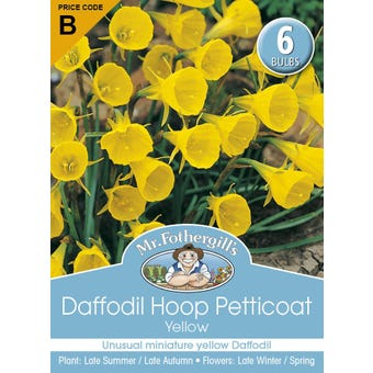 Mr Fothergill's Bulbs Daffodil Hoop Petticoat Yellow 6 Bulbs