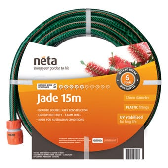 Neta Jade Fitted Hose 15m x 12mm