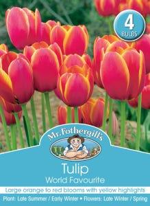 Mr Fothergill's Bulbs Tulip World Favourite 4 Bulbs