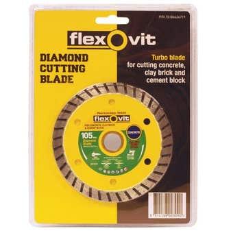 Flexovit Diamond Blade Concrete Brick 105mm