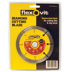 Flexovit Diamond Blade Tile/Brick 105mm