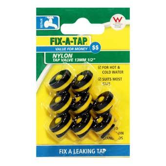 FIX-A-TAP 13mm Nylon Tap Valve 8 Pack