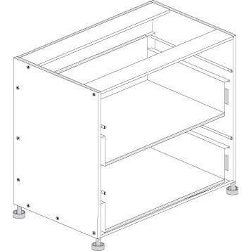 Principal Drawer Cabinet 900mm 2 Drawers Premium