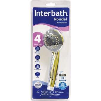 Interbath Rondel Handshower 4 Function Chrome 85mm