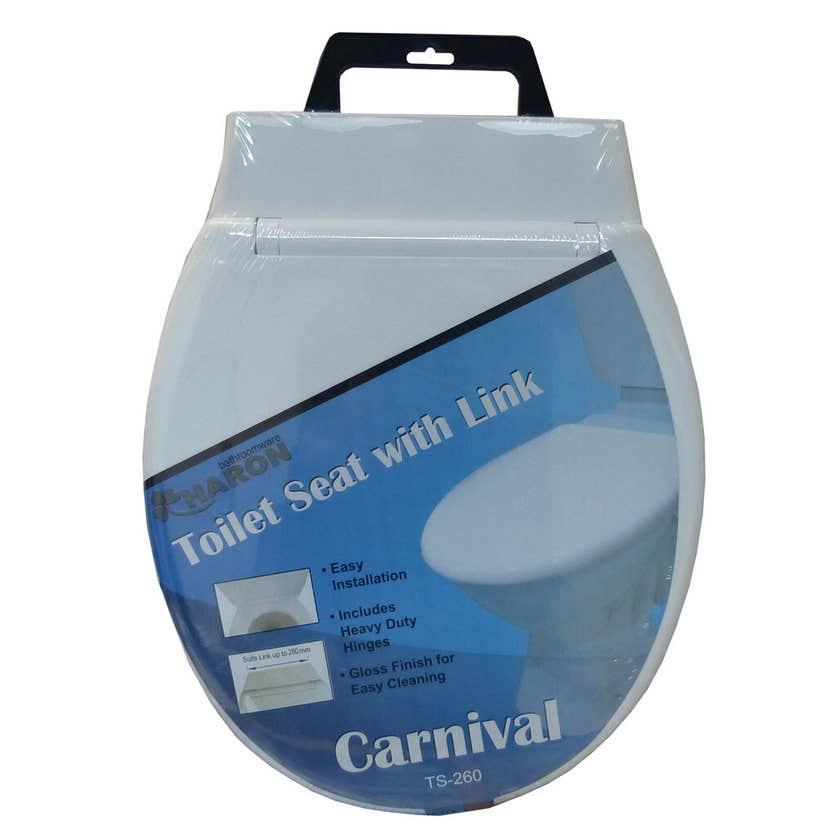 Haron Carnival Toilet Seat White