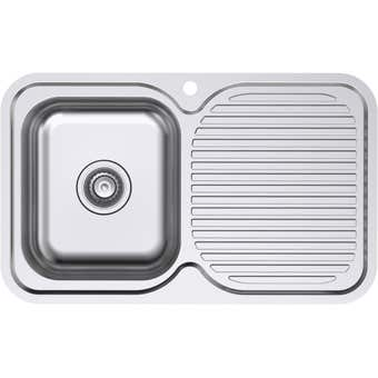 Everhard Classic Single Bowl & Drainer LH 780mm