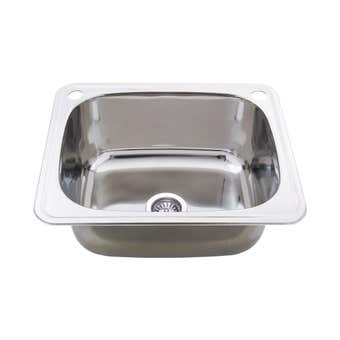 Everhard Classic 2 Tap Hole Utility Sink 45L