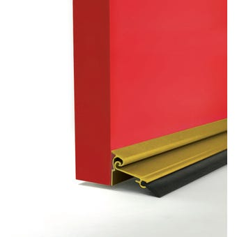 Cowdroy Anodised Automatic Door Seal Gold 1220mm
