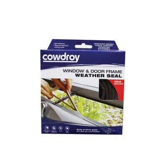 Cowdroy  Window and Door Frame Weather Seal Brown 6 x 9mm x 5m