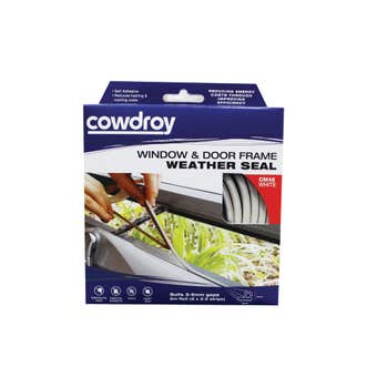 Cowdroy Window and Door Frame Weather Seal White 6 - 9mm x 5m