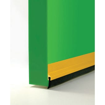 Cowdroy Anodised Rubber Strip Door Seal Gold