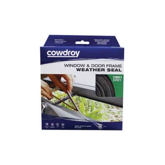 Cowdroy Brush Window and Door Frame Weather Seal Grey 7 x 9mm x 5m