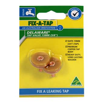 FIX-A-TAP Delaware Tap Valve 15mm 2 Pack