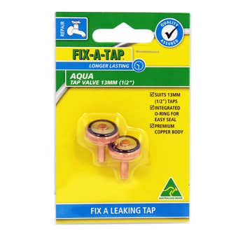 FIX-A-TAP Aqua Tap Valve 13mm - 2 Pack