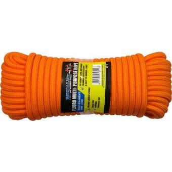 Hardfast Fluro Rope Orange 8mm x 20m