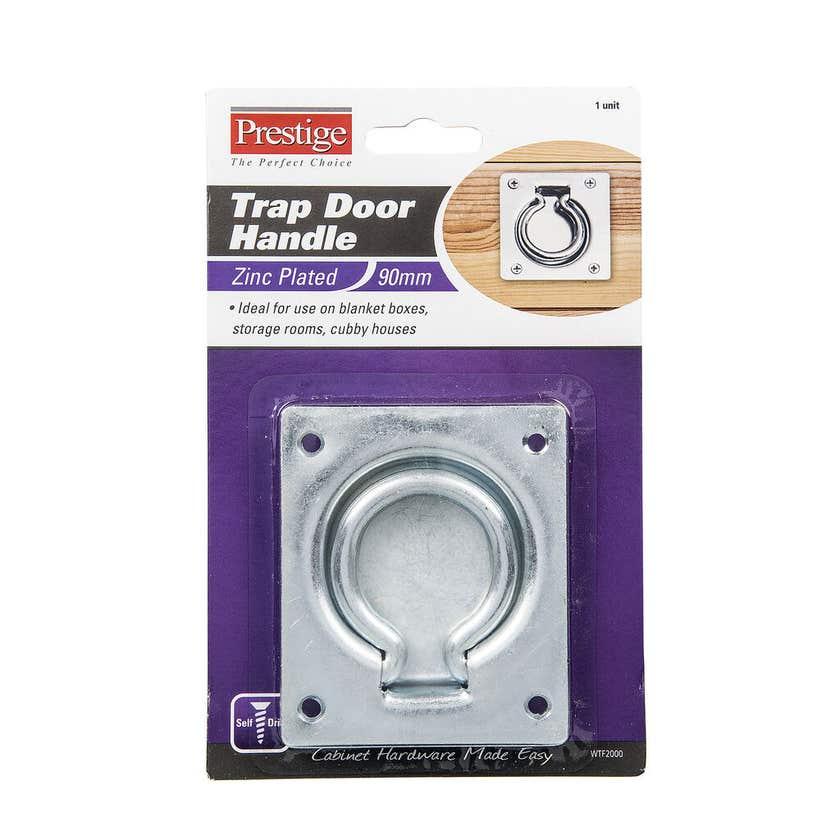 Prestige Trap Door Handle Zinc Plated