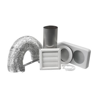 Deflecto Universial Dryer Vent Kit White