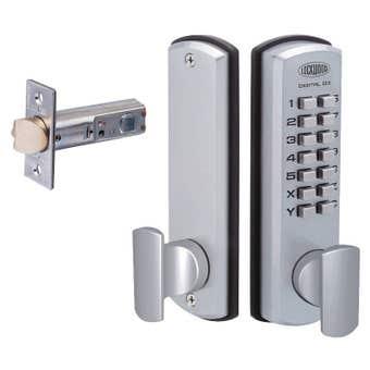 Lockwood 530 Digital Latch Lock Set Satin Chrome