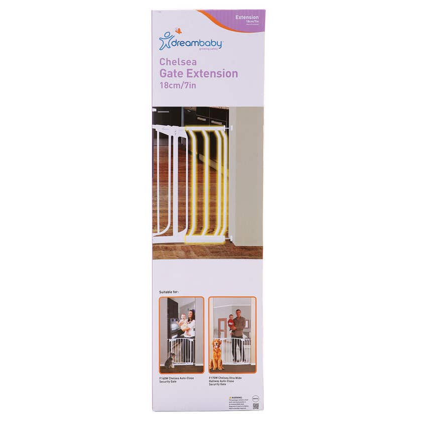 Dreambaby Chelsea Gate Extension White 18cm