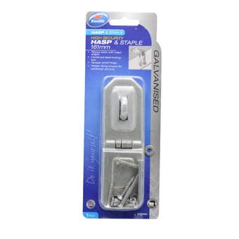 Zenith High Security Hasp & Staple Hinged Galvanised 161mm - 1 Pack