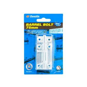 Zenith Barrel Bolt Zinc Plated 75mm - 1 Pack