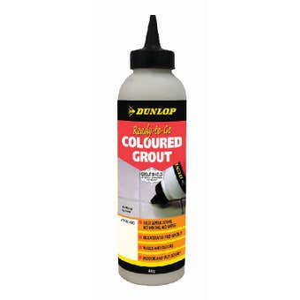 Dunlop Ready-To-Go Coloured Grout White 800g