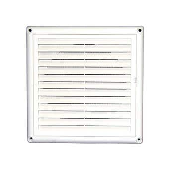DEFLECTO GRILL VENT with SCREEN 125MM