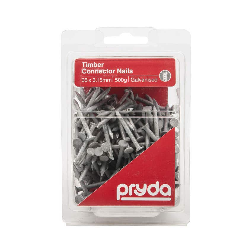 Pryda Timber Connector Nail Galvanised 35 x 3.15mm 500g