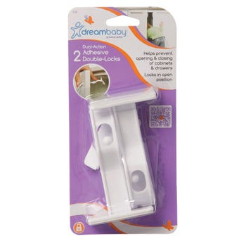 Dreambaby Dual Action Adhesive Double Locks - 2 Pack