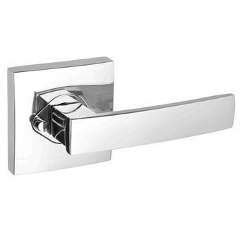 Gainsborough G2 Series Angular Privacy Lever Set Square Back Plates Bright Chrome