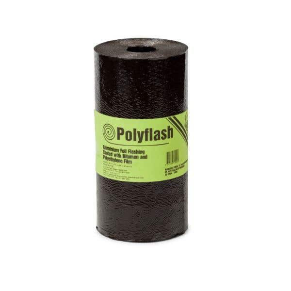 Polyflash Bitumen Coated Aluminium Foil Core 230mm x 20m