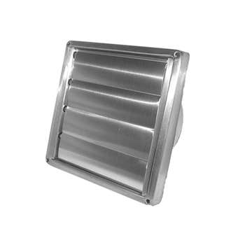 Deflecto Kensington Gravity Stainless Steel Wall Vent 100mm