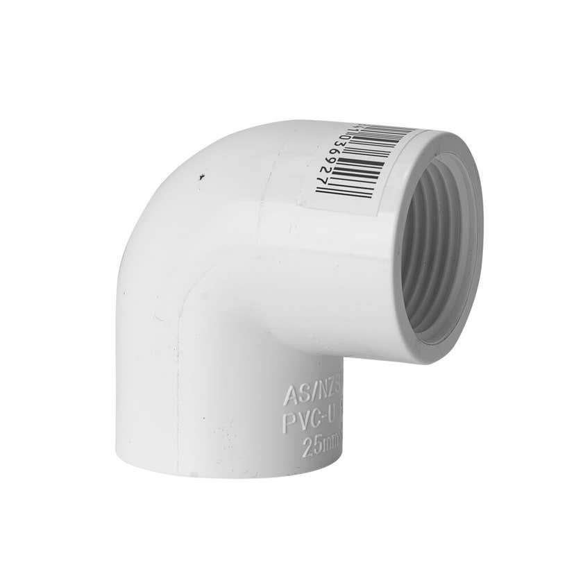"Holman PVC Pressure Faucet Elbow 25mm x 1"" 90 Deg"