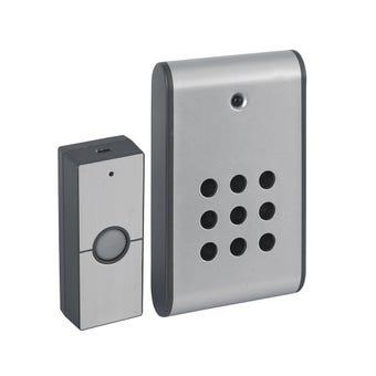 Arlec Wireless Portable Door Chime Metallic