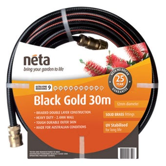 Neta Black Gold Fitted Hose 30m x 12mm