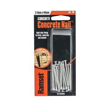 Ramset Concrete Nail Striated 2.4 x 45mm - 25 Pack