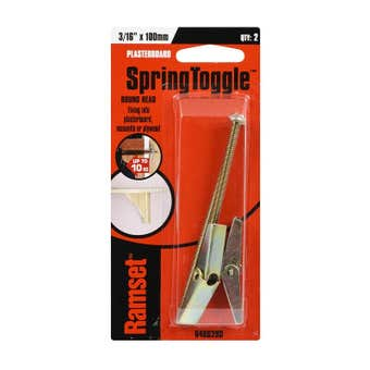"Ramset SpringToggle Round Head 3/16"" x 100mm 10kg - 2 Pack"