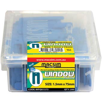Macsim Window Packers Blue 1.5 x 75mm - 200 Pack
