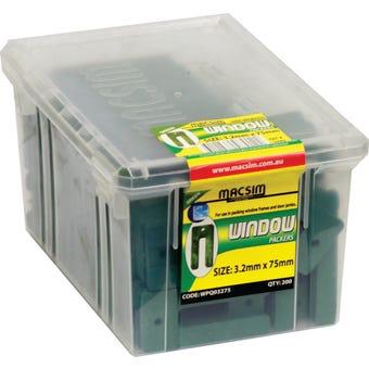 Macsim Window Packers Green 3.2 x 75mm - Box of 200